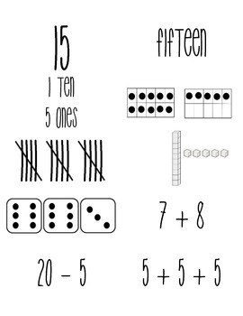 Number Matching Cards #5-15