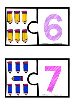 Number Matching Cards #6-10