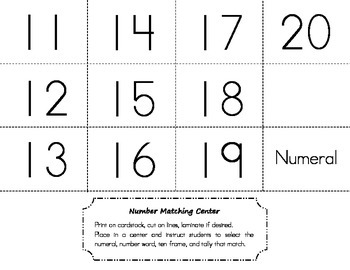 Number Matching Center >> 11-20