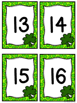 Number Matching Center w/a St. Patrick's Day Theme!
