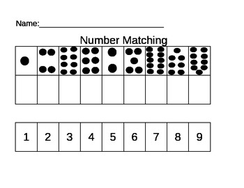 Number Matching Cut and Paste