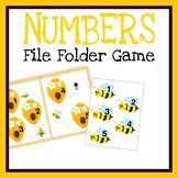 Matching Numbers File Folder Game, Printable Worksheets, Q
