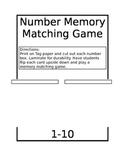 Number Matching Game 1-10