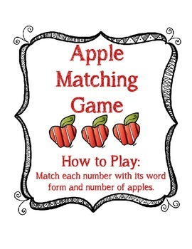 Number Matching Game 0-10