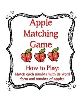 Number Matching Game 0-10