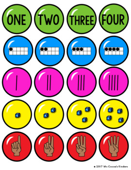 Number Matching Game 1-20