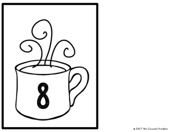Number Matching Game 1-20 - Winter Hot Cocoa