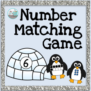 Number Matching Game 1-20 - Winter Penguins