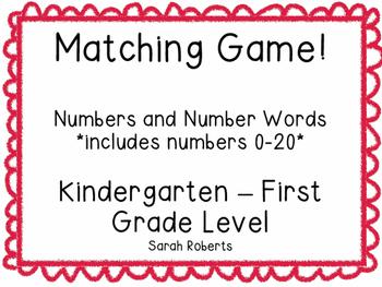 Number Matching Game
