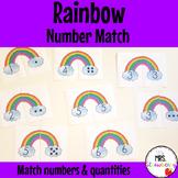 Number Matching Game: Rainbows