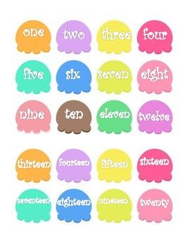 Number Matching Ice Cream