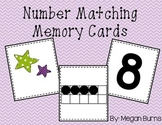 Number Matching Memory Cards