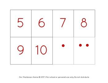 Number Matching & Memory Game