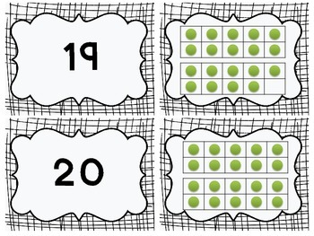 Number Matching & Memory Game: Common Core Counting & Cardinality