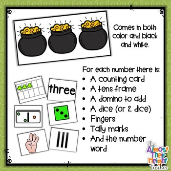 Number Matching - Number Sorting Mats 1-10 - St Patrick's theme