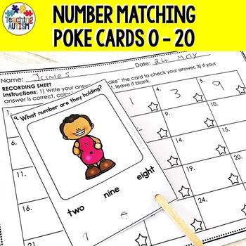 Number Matching Poke Cards