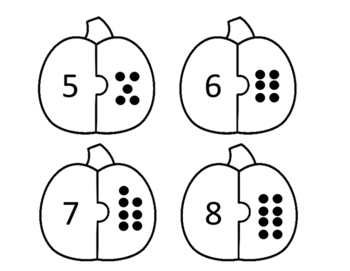Number Matching Pumpkins 1-20