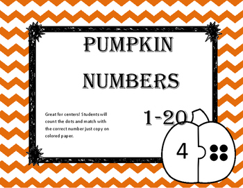 Number Matching Pumpkins 1-20