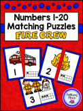 Number Matching Puzzles with Ten Frames - Fire Crew {Numbe
