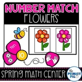 Spring Math Center: Number Match Flowers