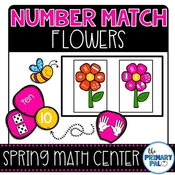 Number Matching Spring Flowers