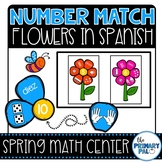 Spanish Math Center: Number Match Flowers