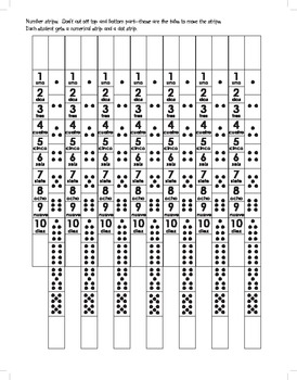 Spanish Number Matching Strips