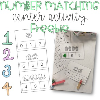 Number Matching Task Cards