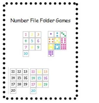 Number Matching and Quantity File folders 1-20