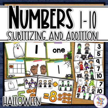 Number Sense for numbers 0-10 (Monster/Halloween Theme)