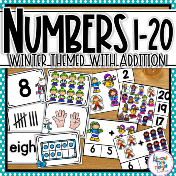 Number Sense / Recognition Activities for 0-20 - Winter Themed