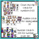Winter Number Sense Math Center Activities for 0-20 with matching and counting