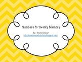 Number Matching to Twenty
