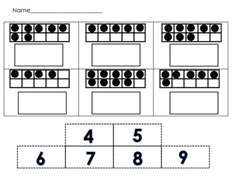 Number Matching with Numbers 1-20 Math Center Activity