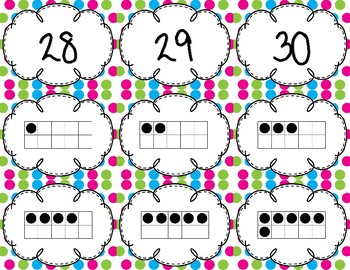 Number Matching with Tens Frames to 30