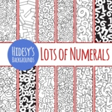 Number Math Backgrounds for Coloring In - Digital Paper / Patterns Clip Art