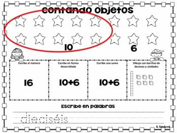 Number Math Practice in Spanish