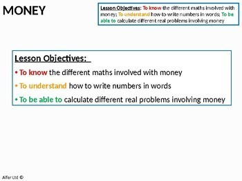 Number: Mathematics and Money (+ 2 worksheets)