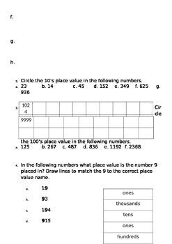 Number Maths Test