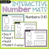 Kindergarten Number Sense Worksheets: Count & Write Numbers 0-10 Mats