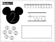 Number Mats 0-10 -- Mickey Mouse Cut & Paste Worksheets --