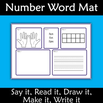 Number Mats 0-10 Say, Read, Draw, Make, Write  it