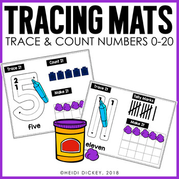 Number Tracing Mats 0-10