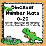 Number Mats 0-20 Dinosaur Background