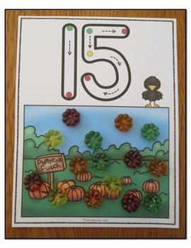 Number Mats 0-20 Pumpkin Patch