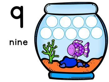 Number Mats 1-10: Fish Bowl