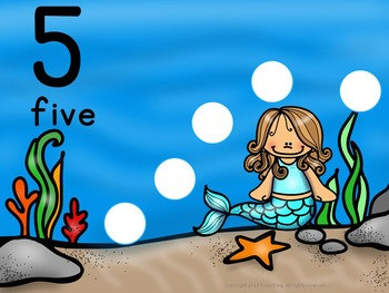 Number Mats 1-10: Mermaid