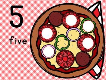 Number Mats 1-10: Pizza