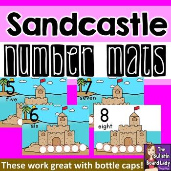 Number Mats 1-10: Sandcastle