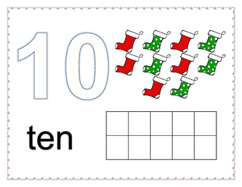 Counting Number Mats 1 - 10 Winter theme